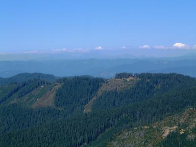Looking ENE to The Three Sisters, Broken Top, and Mt. Bachelor