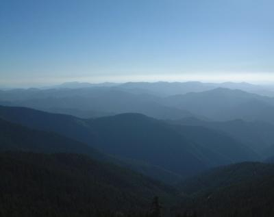 Looking W toward the Coastal Mountains and Ocean from Fire Tower